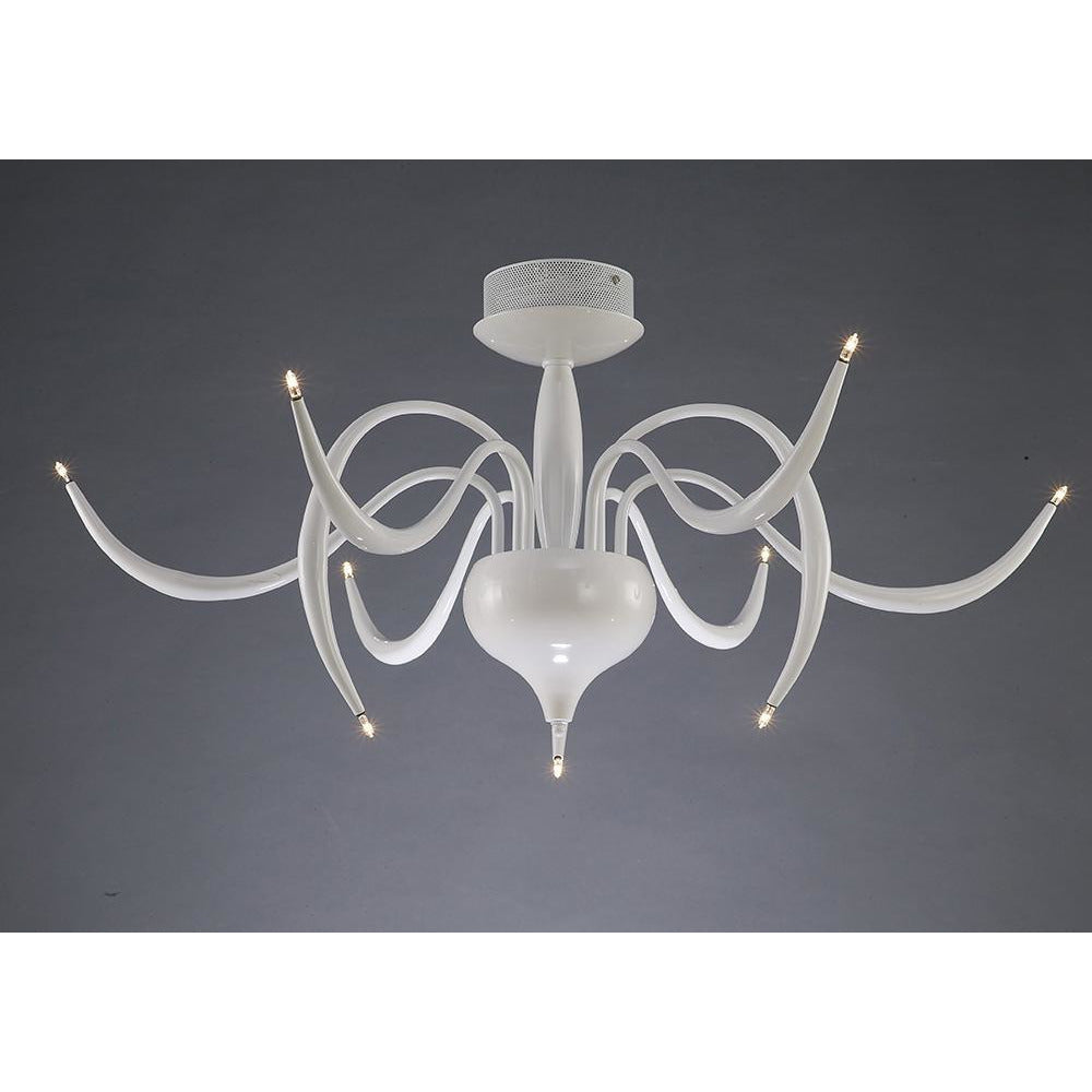 Slate Gray Diyas IL30150 Llamas Ceiling 9 Light White