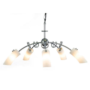 White Smoke Diyas IL20232  Lucia Pendant 5 Light Polished Chrome/Frosted Glass diyas-il20232-lucia-pendant-5-light-polished-chrome-frosted-glass Lucia