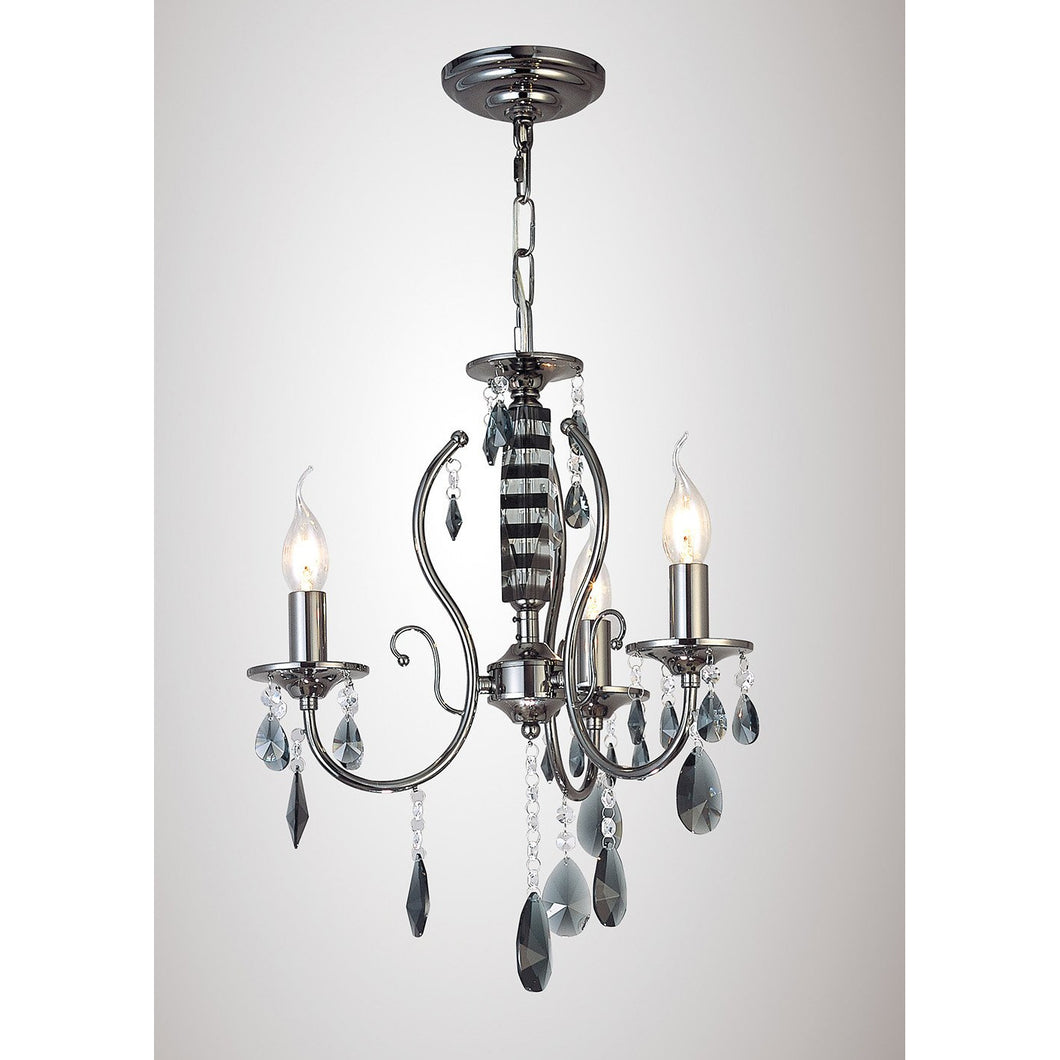 Lavender Diyas IL30903 Luna Ceiling 3 Light Black Chrome/Crystal diyas-il30903-luna-ceiling-3-light-black-chrome-crystal Luna