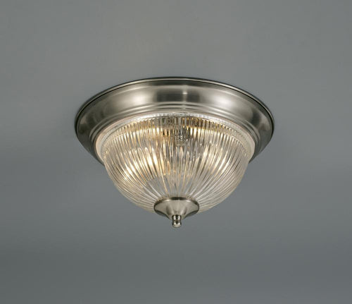 Rosy Brown Deco D0406 Macy IP44 2 Light E14 Flush Ceiling Light, Satin Nickel With Clear Ribbed Glass deco-d0406-macy-ip44-2-light-e14-flush-ceiling-light-satin-nickel-with-clear-ribbed-glass