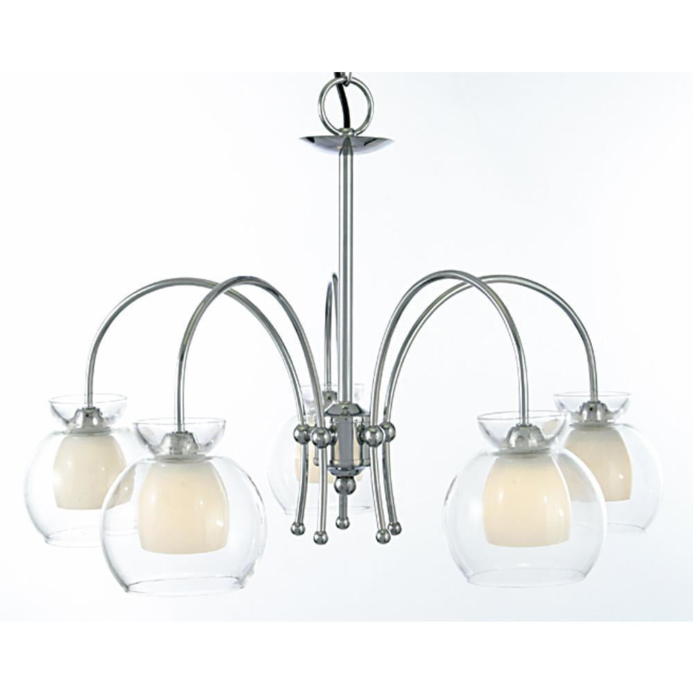 White Smoke Diyas IL20222  Malvina Pendant/Semi Ceiling 5 Light Polished Chrome/Clear Glass diyas-il20222-malvina-pendant-semi-ceiling-5-light-polished-chrome-clear-glass Malvina