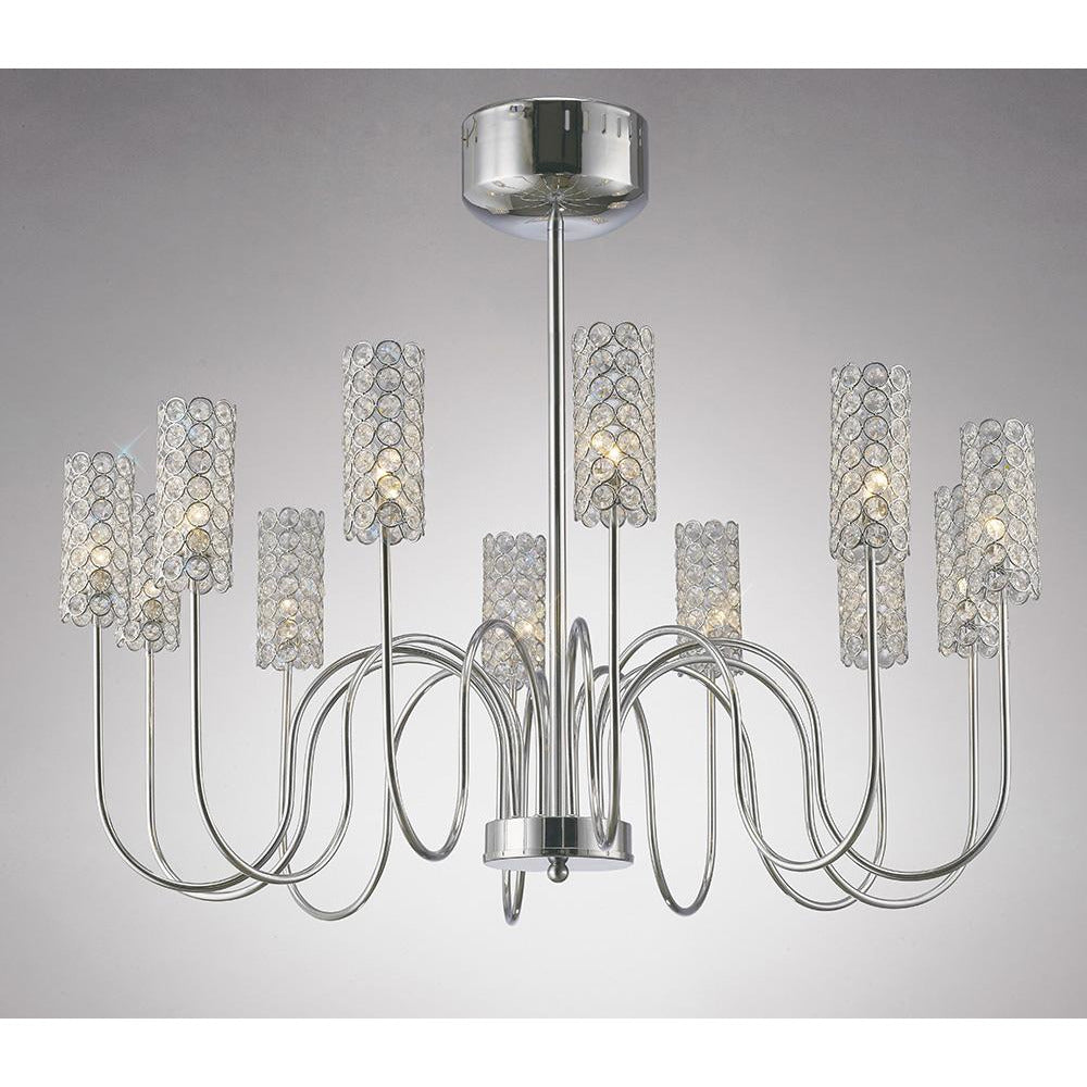 Gray Diyas IL20622 Martina Pendant 12 Light Polished Chrome/Crystal diyas-il20622-martina-pendant-12-light-polished-chrome-crystal Martina
