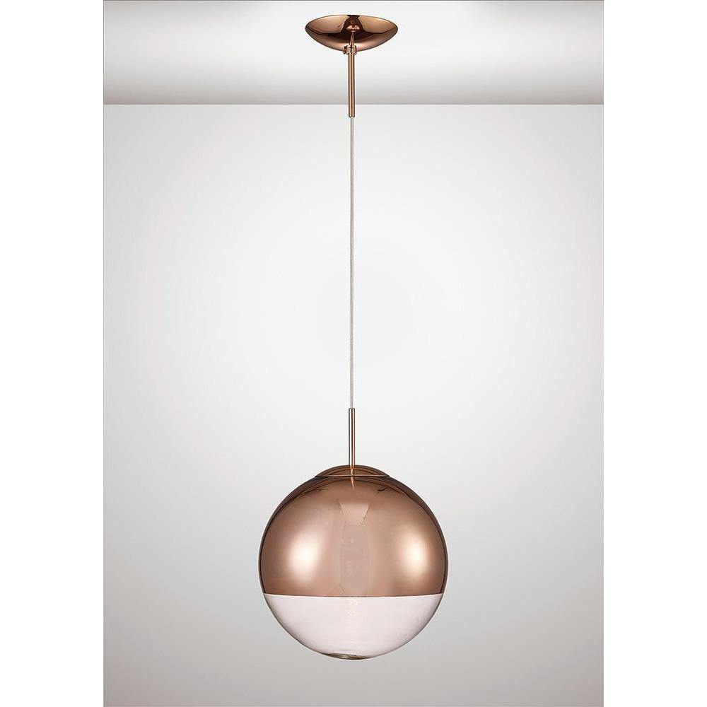 White Smoke Deco D0127 Miranda Medium Ball Pendant 1 Light E27 Copper