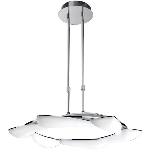 White Smoke Mantra  M3800 Mistral Telescopic 36W LED Round 3000K, 3240lm, Polished Chrome/Frosted Acrylic, 3yrs Warranty