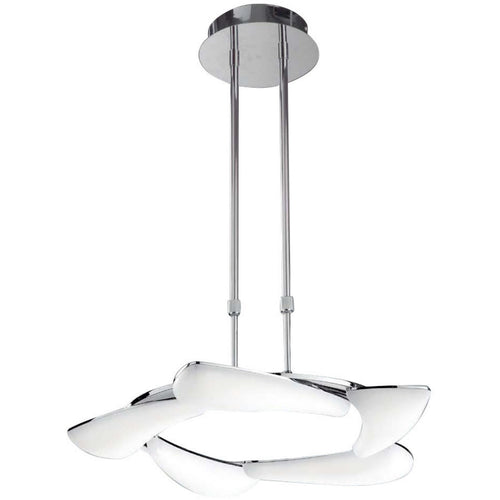 White Smoke Mantra  M3801 Mistral Telescopic 30W LED Round 3000K, 2700lm, Polished Chrome/Frosted Acrylic, 3yrs Warranty
