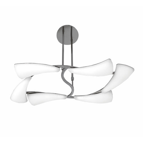 White Smoke Mantra  M3802 Mistral Telescopic 36W LED Rectangular 3000K, 3240lm, Polished Chrome/Frosted Acrylic, 3yrs Warranty