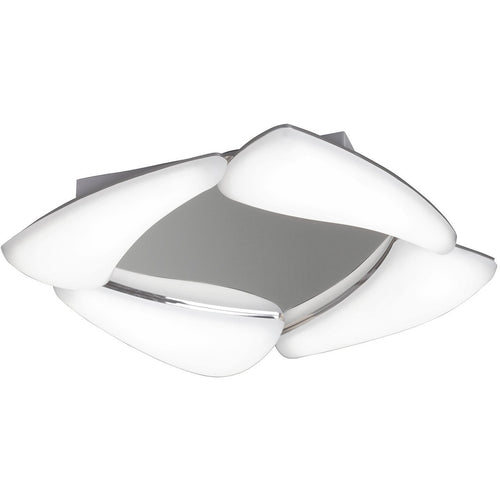 Light Slate Gray Mantra  M3806 Mistral Ceiling 24W LED 3000K, 2160lm, Polished Chrome/Frosted Acrylic, 3yrs Warranty