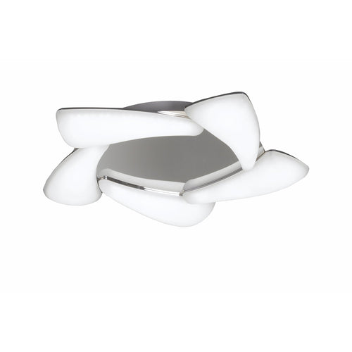 Slate Gray Mantra  M3807 Mistral Ceiling 30W LED 3000K, 2700lm, Polished Chrome/Frosted Acrylic, 3yrs Warranty