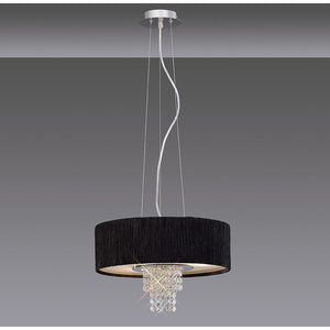 Dim Gray Diyas IL30272/BL Nerissa Pendant With Black Shade 4 Light Polished Chrome/Crystal diyas-il30272-bl-nerissa-pendant-with-black-shade-4-light-polished-chrome-crystal Nerissa