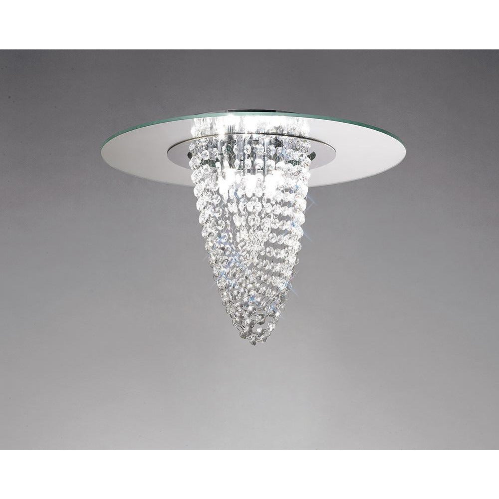 Dark Gray Diyas IL31460 Oberon Ceiling 5 Light Polished Chrome/Mirror/Crystal