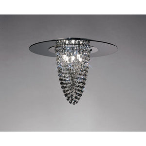 Dark Gray Diyas IL31461 Oberon Ceiling 5 Light Polished Chrome/Smoked Mirror/Smoked Crystal