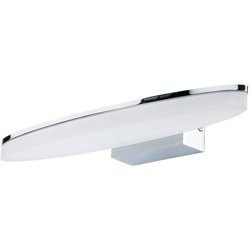 Lavender Mantra  M8241 Ola Wall Lamp 6W LED Oval 3000K IP44, 450lm, Polished Chrome/Frosted Acrylic, 3yrs Warranty