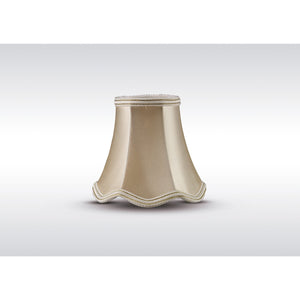 Rosy Brown Diyas ILS10605 Onida Clip-On Fabric Shade Cream 70/130mm x 120mm