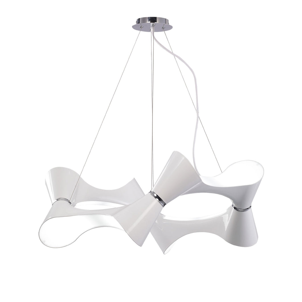 Lavender Mantra M1542 Ora Pendant 8 Twisted Round Light E27, Gloss White/White Acrylic/Polished Chrome mantra-m1542-ora-pendant-8-twisted-round-light-e27-gloss-white-white-acrylic-polished-chrome