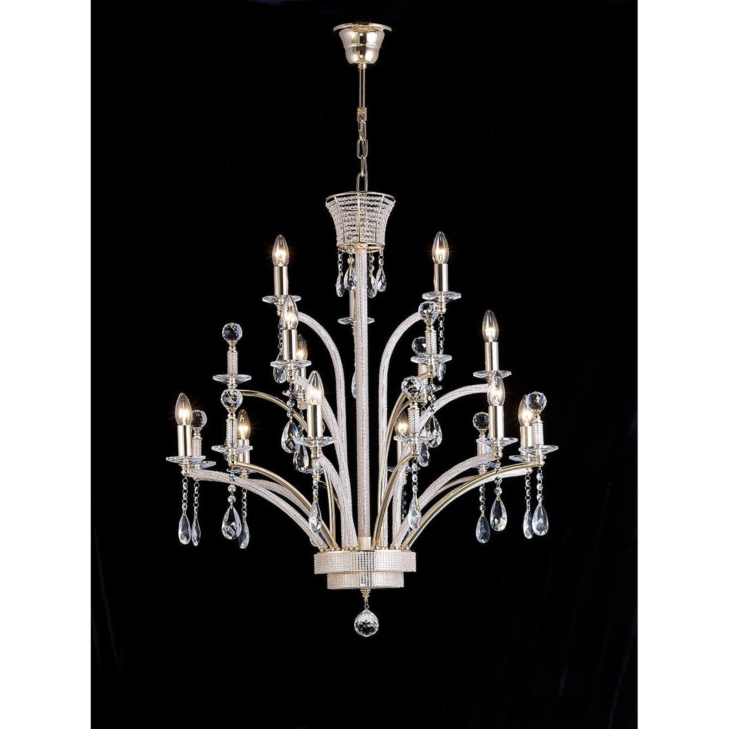 Black Diyas IL30381 Orlando Pendant Large 12 Light Gold Plated (ITEM REQUIRES ASSEMBLY) diyas-il30381-orlando-pendant-large-12-light-gold-plated-item-requires-assembly Orlando