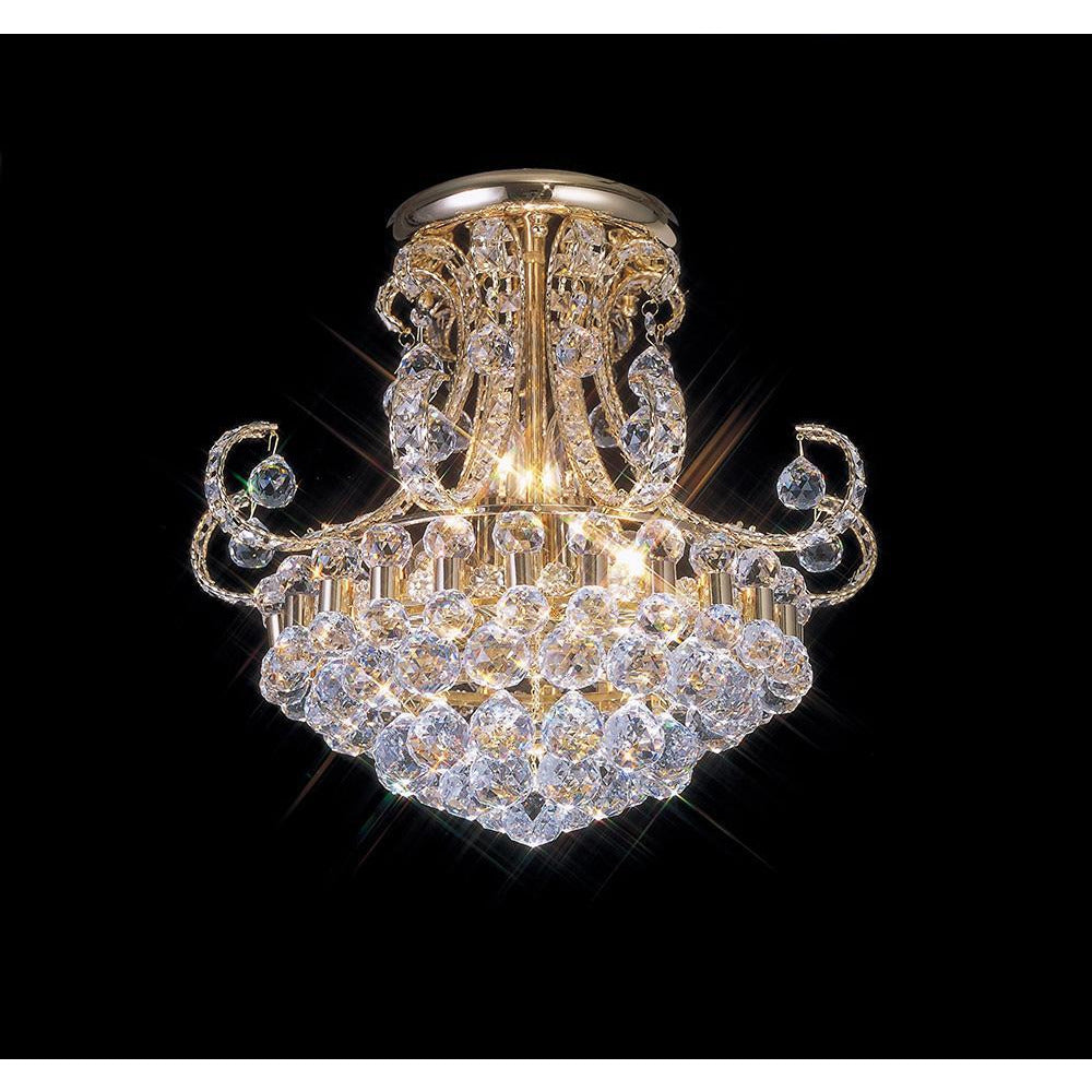 Rosy Brown Diyas IL30006 Pearl Ceiling 9 Light French Gold/Crystal