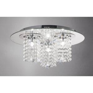 Gray Diyas IL31465 Pegasus Ceiling 3 Light Polished Chrome/Mirror/Crystal