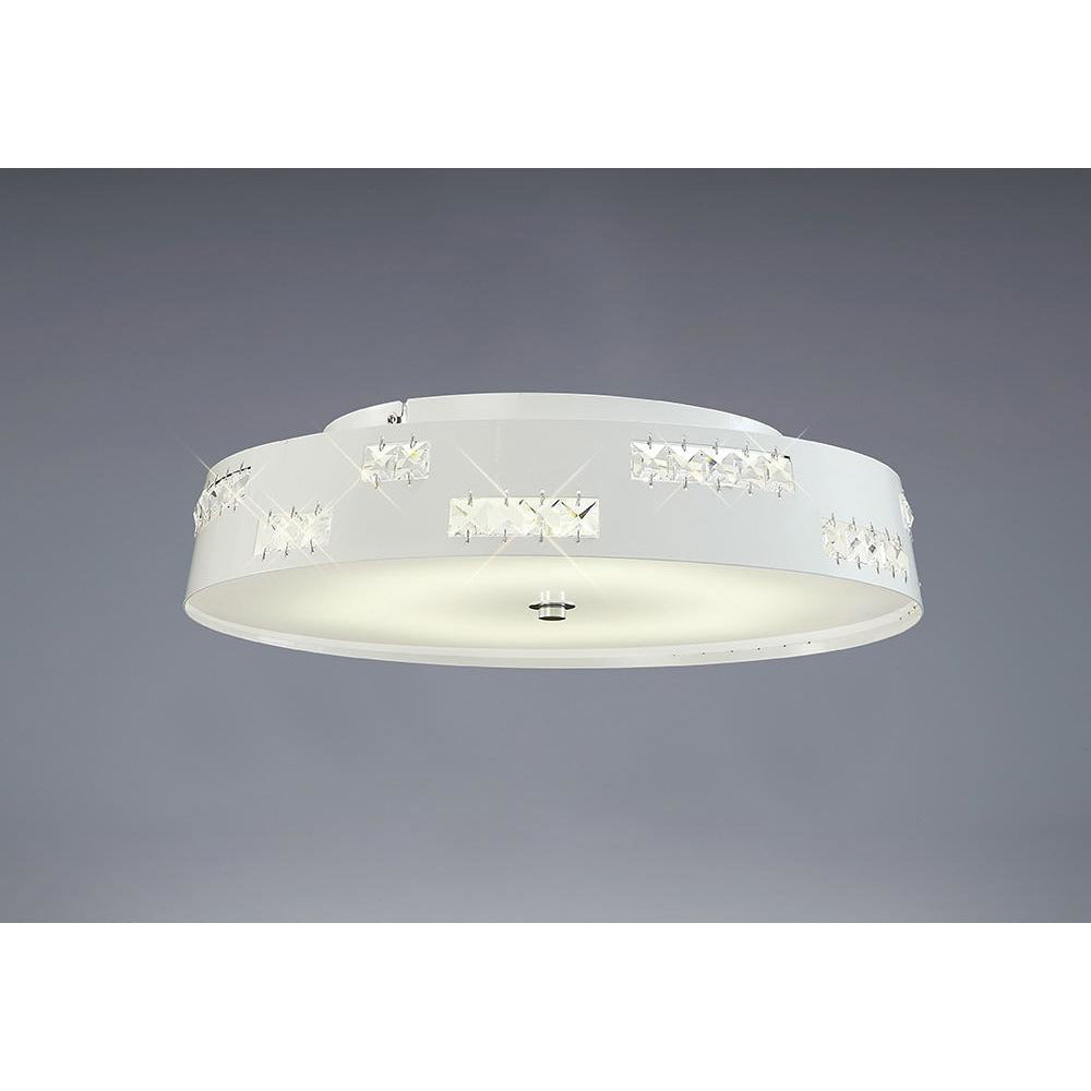 Light Gray Diyas IL80003 Phoenix Ceiling 18W LED 3600K White/Crystal