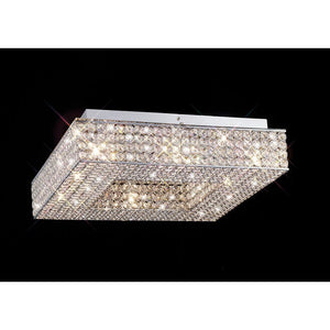 Gray Diyas IL30432 Piazza Ceiling Square 8 Light Polished Chrome/Crystal diyas-il30432-piazza-ceiling-square-8-light-polished-chrome-crystal Piazza