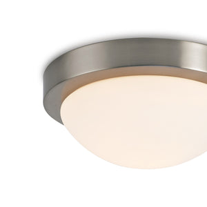 Misty Rose Deco D0396 Porter IP44 1 Light E27 Medium Flush Ceiling Light, Satin Nickel With Opal White Glass deco-d0396-porter-ip44-1-light-e27-medium-flush-ceiling-light-satin-nickel-with-opal-white-glass