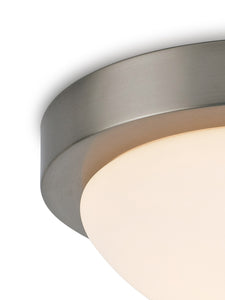 Dark Gray Deco D0396 Porter IP44 1 Light E27 Medium Flush Ceiling Light, Satin Nickel With Opal White Glass deco-d0396-porter-ip44-1-light-e27-medium-flush-ceiling-light-satin-nickel-with-opal-white-glass