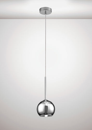 Lavender Deco D0106 Regina Single Pendant 1 Light G9 Polished Chrome and Chrome Plated Glass deco-d0106-regina-single-pendant-1-light-g9-polished-chrome-and-chrome-plated-glass