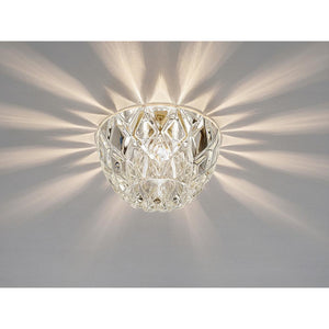 Gray Diyas IL31843CH Ria G9 Diamond Faceted Round Downlight Polished Chrome/Crystal