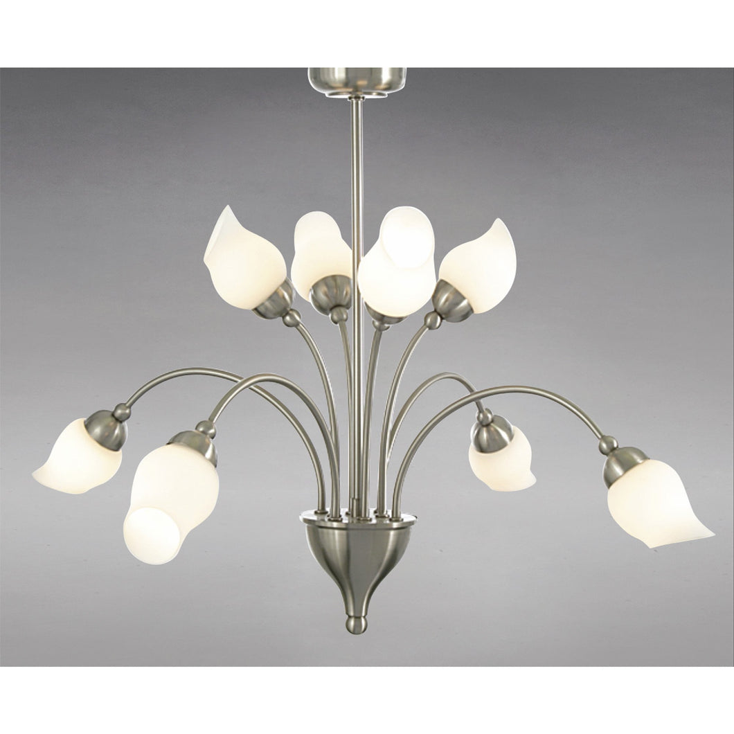 Gray Diyas IL10002  Rimini Pendant 8 Light Satin Chrome/Opal Glass diyas-il10002-rimini-pendant-8-light-satin-chrome-opal-glass Rimini