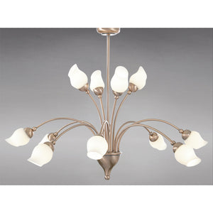 Gray Diyas IL10015  Rimini Pendant 12 Light Antique Copper/Opal Glass diyas-il10015-rimini-pendant-12-light-antique-copper-opal-glass Rimini