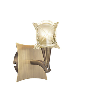 Tan Mantra M0051AB/S Rosa Del Desierto Wall LampSwitched 1 Light G9, Antique Brass