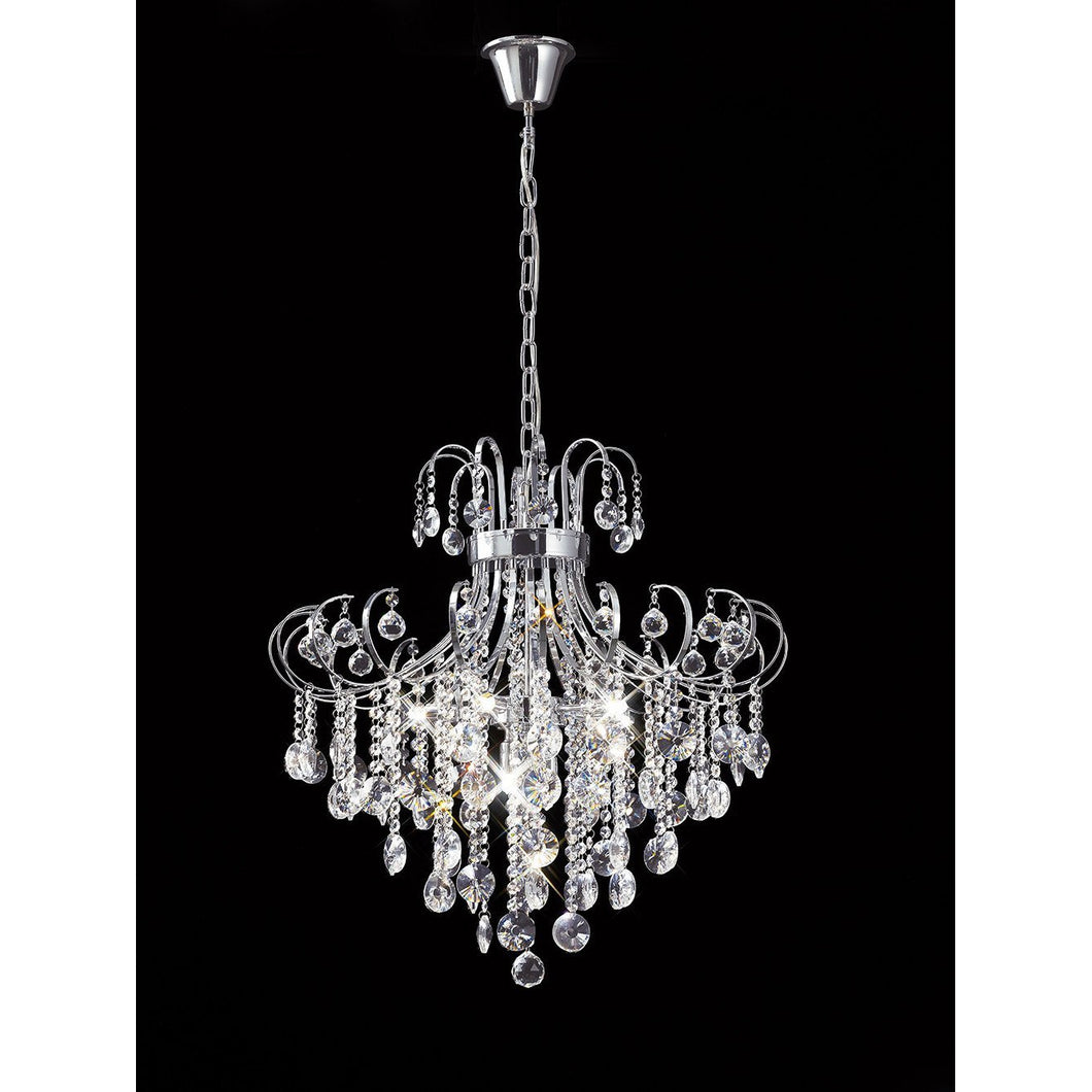 Black Diyas IL31056 Rosina Pendant 7 Light Polished Chrome/Crystal diyas-il31056-rosina-pendant-7-light-polished-chrome-crystal Rosina