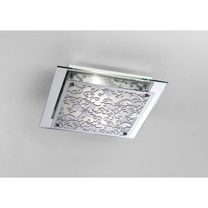 Gray Diyas IL31016 Roveta Ceiling/Wall Lamp 2 Light Polished Chrome