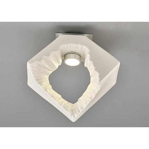 Gray Diyas IL80063 Salvio Ceiling Square Sculpture 1 x 3W LED Chrome/White