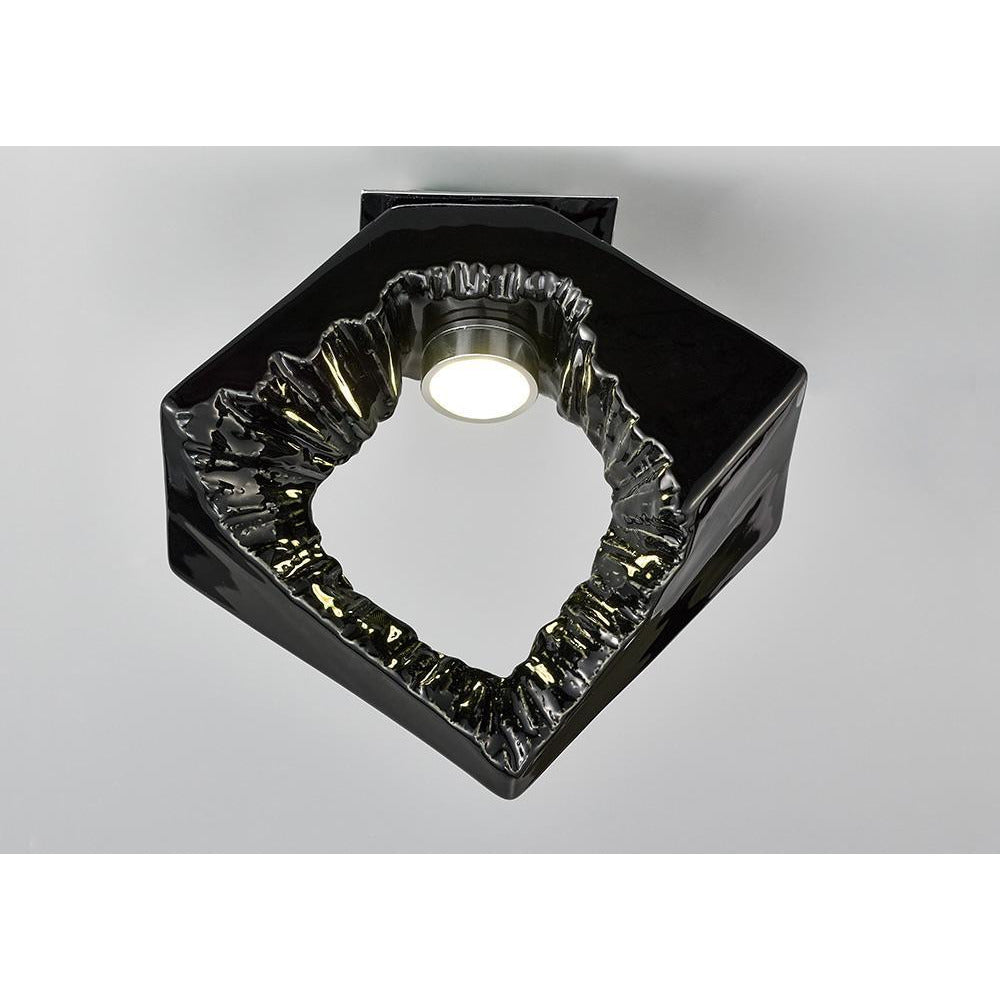 Black Diyas IL80064 Salvio Ceiling Square Sculpture 1 x 3W LED Chrome/Black diyas-il80064-salvio-ceiling-square-sculpture-1-x-3w-led-chrome-black Salvio