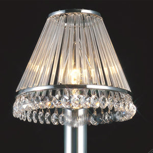 Gray Diyas IL30100 Crystal Clip-On Shade With Clear Glass Rods Polished Chrome/Crystal