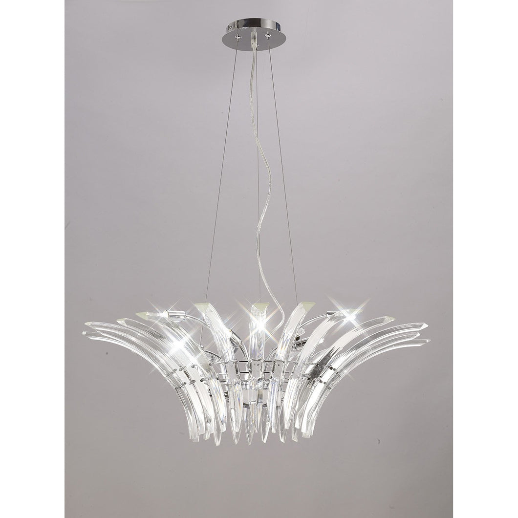 Gray Diyas IL50443 Sinclair Pendant 9 Light Polished Chrome