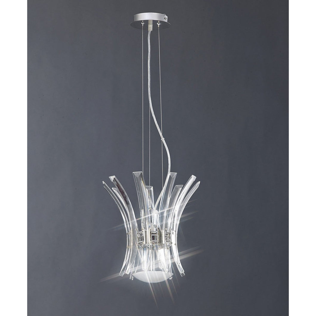 Dim Gray Diyas IL50444 Sinclair Pendant 4 Light Polished Chrome