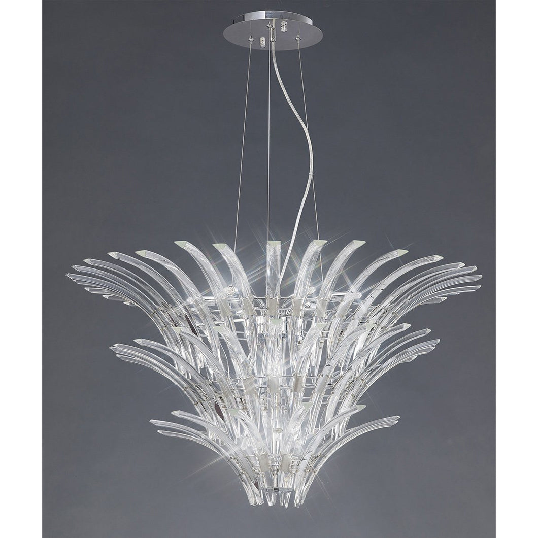 Dim Gray Diyas IL50445 Sinclair Pendant 12 Light Polished Chrome