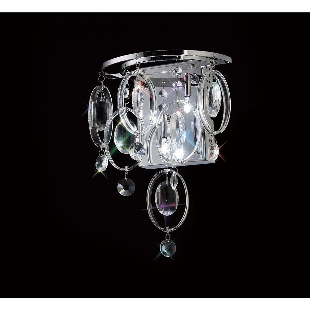 Black Diyas IL31350 Solana Wall Lamp 3 Light Polished Chrome/Crystal diyas-il31350-solana-wall-lamp-3-light-polished-chrome-crystal Solana