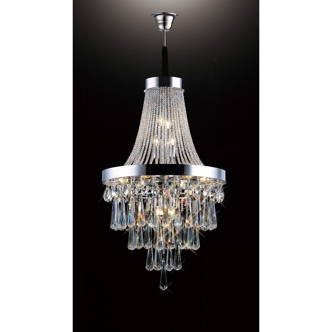 Black Diyas IL31430 Sophia Pendant 13 Light Polished Chrome/Crystal diyas-il31430-sophia-pendant-13-light-polished-chrome-crystal Sophia