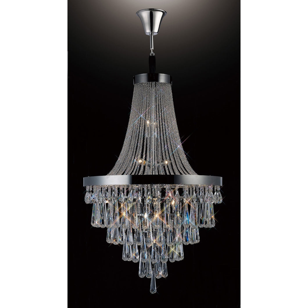 Black Diyas IL31431 Sophia Pendant 17 Light Polished Chrome/Crystal