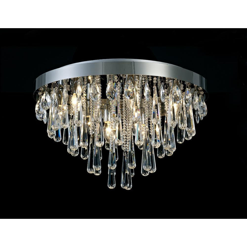 Rosy Brown Diyas IL31432 Sophia Ceiling 8 Light E14 Polished Chrome/Crystal
