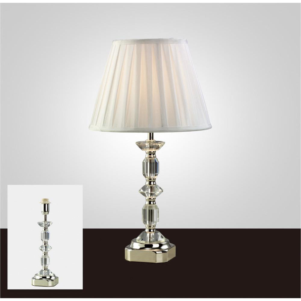 White Smoke Diyas IL11002 Sora Crystal Table Lamp Without Shade 1 Light Silver Finish diyas-il11002-sora-crystal-table-lamp-without-shade-1-light-silver-finish Sora