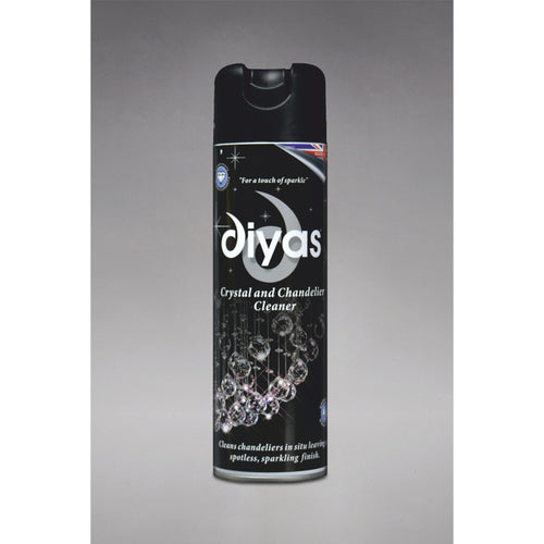 Dark Gray Diyas IL90100 Chandelier Cleaner Spray, 500ml Aerosol Can, Made In The UK