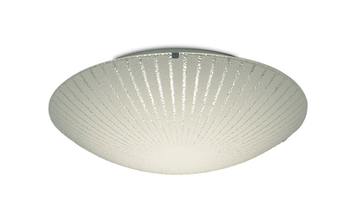 Light Gray Deco D0408 Tassa 18W LED Medium Flush Ceiling Light, 400mm Round, 4000K deco-d0408-tassa-18w-led-medium-flush-ceiling-light-400mm-round-4000k-1500lm-cri80-sunray-pattern-glass-with-polished-chrome-detail