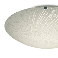 Load image into Gallery viewer, Gray Deco D0409 Tassa 12W LED Small Flush Ceiling Light, 300mm Round, 4000K deco-d0409-tassa-12w-led-small-flush-ceiling-light-300mm-round-4000k-950lm-cri80-random-line-pattern-glass-with-polished-chrome-detail