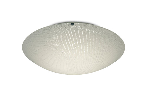 Light Gray Deco D0410 Tassa 18W LED Medium Flush Ceiling Light, Randon Line Pattern Glass With Polished Chrome deco-d0410-tassa-18w-led-medium-flush-ceiling-light-400mm-round-4000k-1500lm-cri80-randon-line-pattern-glass-with-polished-chrome-detail