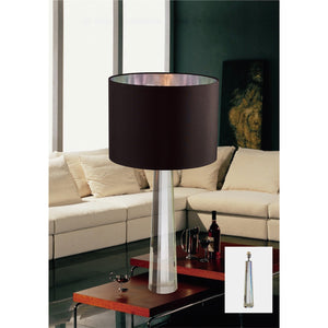 Rosy Brown Diyas IL11031  Tia Table Lamp 1 Light Silver Finish/Crystal