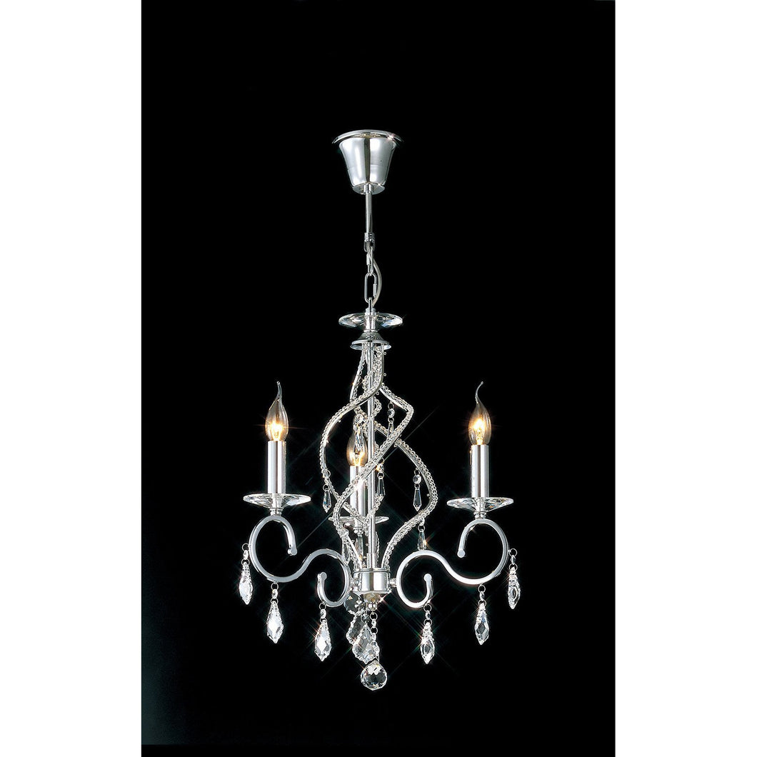 Black Diyas IL30313 Torino Pendant 3 Light Polished Chrome/Crystal diyas-il30313-torino-pendant-3-light-polished-chrome-crystal Torino
