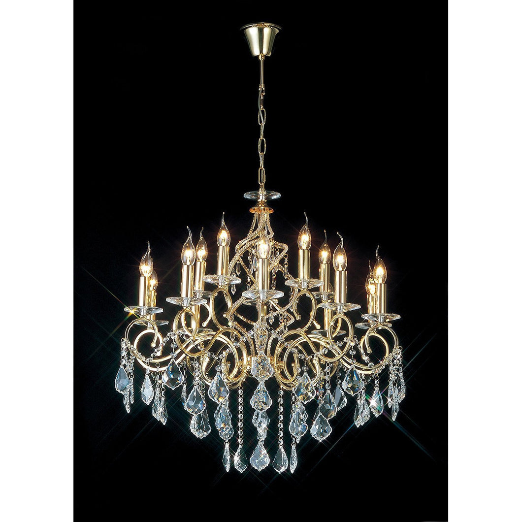Rosy Brown Diyas IL303210+5 Torino Pendant 15 Light French Gold/Crystal diyas-il303210-5-torino-pendant-15-light-french-gold-crystal Torino